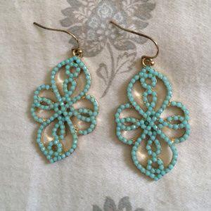 Francesca's earrings - turquoise dangling